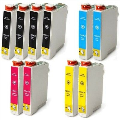 10 Pk Non-Oem #200Xl T200 Ink For Epson Xp-200 Xp-300 Xp-400 Xp-410 Xp-310
