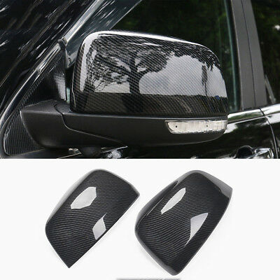 Carbon Fiber ABS Rear-View Mirror Cover Trim For Jeep Grand Cherokee 2011-2017
