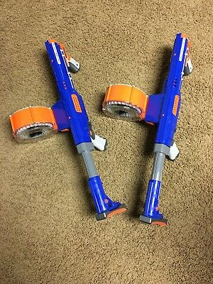 Nerf Gun Raider CS-35 Lot Of 2 Stocks and Drums