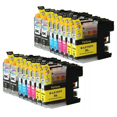 16 Ink Non-Oem Lc-101 Lc-103 For Brother Dcp-J152W	Mfc-J4410Dw Mfc-J4510Dw