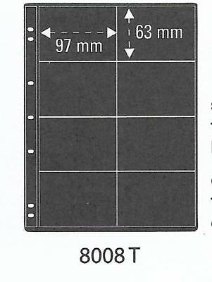PRINZ PRO-FIL 8 POCKET BLACK PHONECARD ALBUM SHEETS Pack of 5 Ref No: 8008T