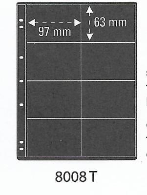 PRINZ ProFil 8 POCKET BLACK PHONECARD ALBUM SHEETS Pack of 5 Ref No: 8008T