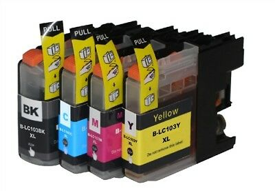 4 Ink Non-Oem Lc-101 Lc-103 For Brother Mfc-J4610Dw Mfc-J4710Dw Mfc-J4310Dw