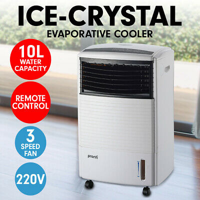 Pronti 10L Evaporative Air Cooler Portable Fan Conditioner Cool Mist w/Remote