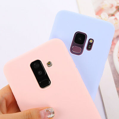 Ultra-thin Silicon Candy Color Case for Samsung Galaxy S6 S7 Edge S8 S9 Plus