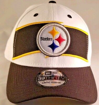 baa5c0959 New 2018 Pittsburgh Steelers New Era L XL 39Thirty Stretch fit Home  Sideline Hat