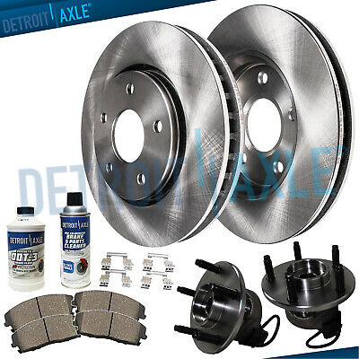 CHEVY MALIBU PONTIAC Grand AM Front Wheel Bearings + Brake Rotors +