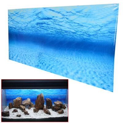 Blue Fish Tank Aquarium Background Plastic Poster Picture Decorative Accessories
