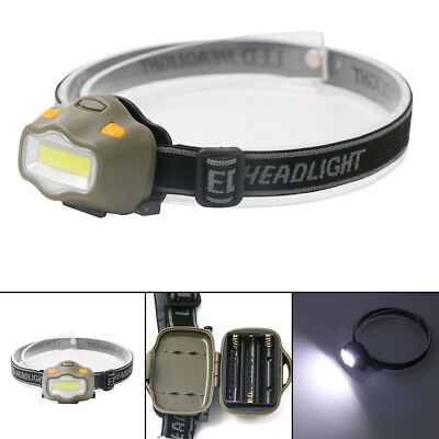 Black/Gray Green Lightweight Double-switch LED Headlamp Head Torch 3-Mode