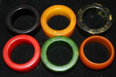 Nice Vintage Lot Of Bakelite Napkin Rings - Rare Colors -Free Shipping-Nr