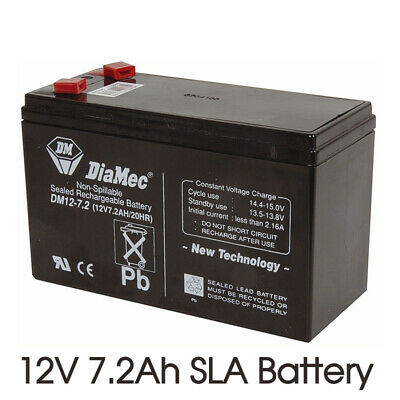 12V 7.2Ah SLA Battery Rechargeable current Charge 720mA for 10-14 hours