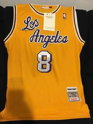 Kobe Bryant Los Angeles Lakers Mitchell & Ness Authentic 1996-1997 Jersey Large