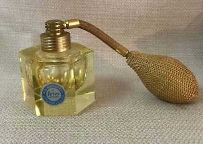 Irice I. Rice Canary Yellow Art Deco Spray Perfume Bottle Made in West Germany