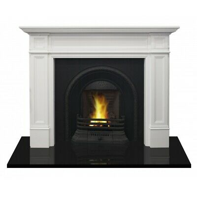 FIREPLACE SURROUND TIMBER MANTLEPIECE-PARLIAMENT-WHITE chimney piece fire mantel