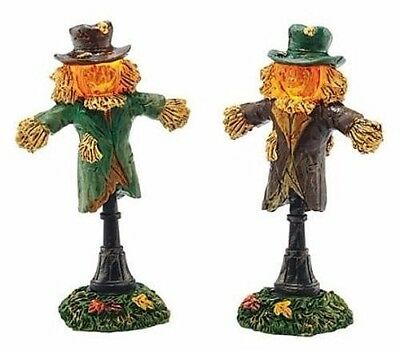 Retired!!!!!!!! Dept. 56 Lit Scarecrow Lamps