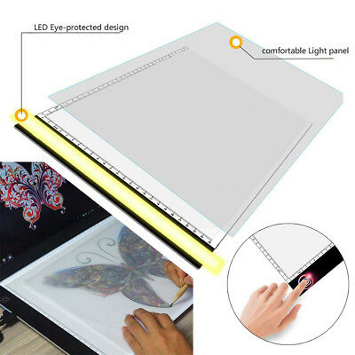 A3A4 LED Ultra Slim Art Craft Drawing Copy Tracing Light Box Pad Board Pad AU
