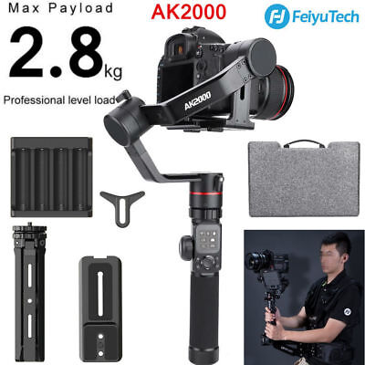 Feiyu AK2000 3-Axis Handheld Stabilized Gimbal for Mirrorless and DSLR Camera GD