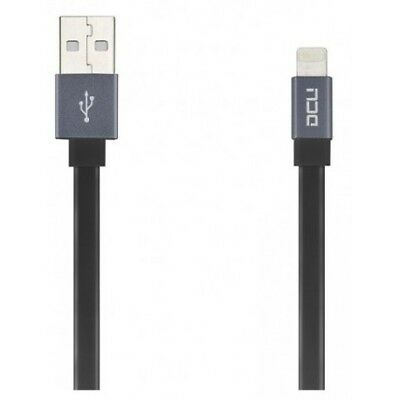 Cable DCU 34101280 Negro Plano Lightning - USB 20CM, Cables