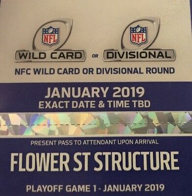 1 RAMS PARKING PASS DIVISIONAL PLAYOFF GAME 1.   (2 Available )