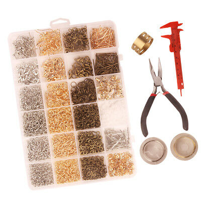 3000x Jewelry Making Findings Supplies Kit for DIY Earring Necklace Bracelet