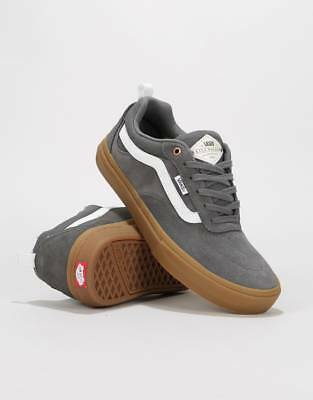 f91177d5a1 Vans Skateboarding Men s Kyle Walker Pro Trainers Shoes Pewter Grey Light  Gum