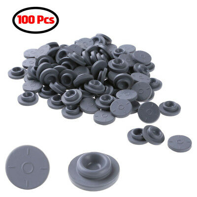 100 Self Healing Rubber Injection Ports 20mm Bottle Stoppers Caps Cover Sealing