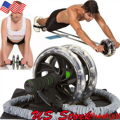 Ab Roller Wheel Pull Rope Waist Abdominal Slimming Fitness Equipment Fitness