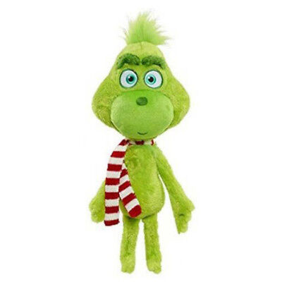 2018 Dr. Seuss' The Grinch Christmas Green Furred w/ Scarf Plush Toy Soft Doll