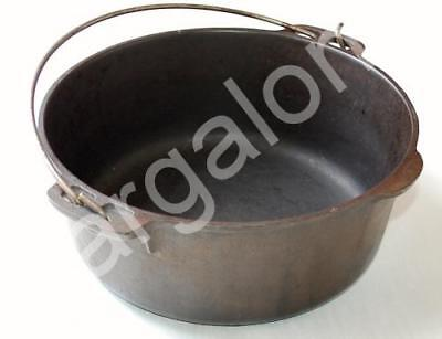 Vintage Unmarked Wagner 5 Quart Cast Iron Kettle Dutch Oven No Lid USED