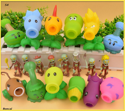 Plants vs zombies shooter peas play children safety fun game figurines new toys