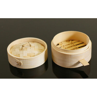 Bamboo Steamer Kitchen Dim Sum Basket Rice Pasta Cooker with Lid & Handle