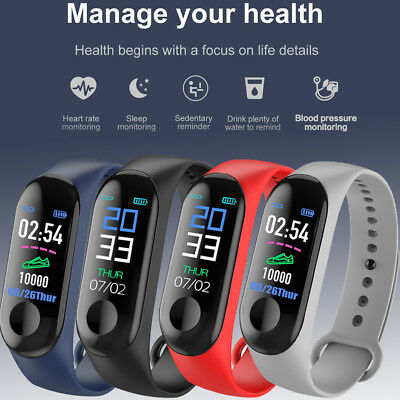 Bluetooth Smart Bracelet Sport Watch Step Calorie Counter Tracker Pedometer UK D