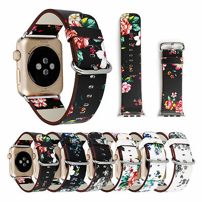 For Apple Watch Series 5 4 40/42/44mm Genuine Leather iWatch Band Strap Bracelet