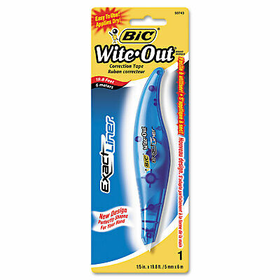 "Wite-Out Exact Liner Correction Tape, Non-Refillable, Blue, 1/5"" x 236"""