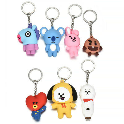 KPOP Bangtan Boys BTS BT21 Keychain Collection Keyring COOKY CHIMMY SHOOKY RJ