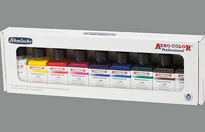 Schmincke kit 9 colori aerografo primari Aero Color 28 ml (81108)