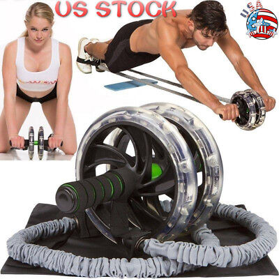 1/2Pcs Ab Roller Wheel Pull Rope Waist Abdominal Slimming Fitness Equipment