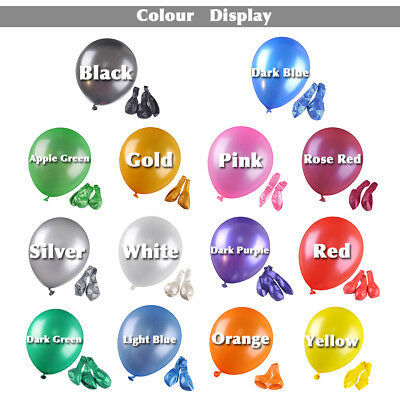 100pcs 10 inch Colorful Pearl Latex Balloon for Birthday Party Wedding Pearl New