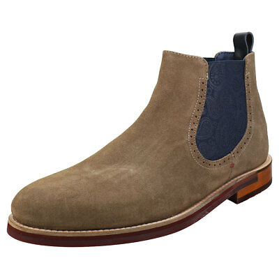 173f26e64 Ted Baker Secaint Mens Grey Navy Suede   Leather Chelsea Boots