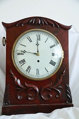 ANTIQUE 19th C mahogany  BRACKET CLOCK GOOD WORKING ORDER