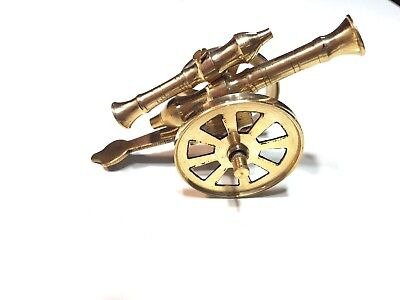New Amazing Vintage Small Brass Cannon Home Office Decor
