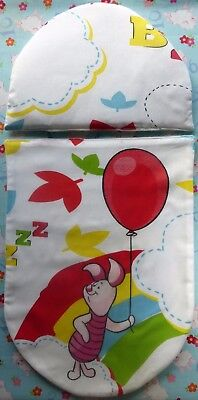 New Disney Piglet cartoon toy pram pushchair cot bed. quilt pillow set baby doll