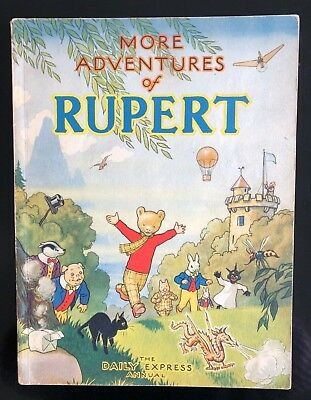 RUPERT ORIGINAL ANNUAL 1947 Inscribed Not Price Clipped FINE JANUARY SALE!
