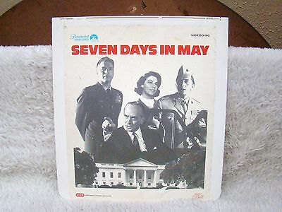 CED VideoDisc Seven Days in May (1963), Black and White, Paramount Home Video