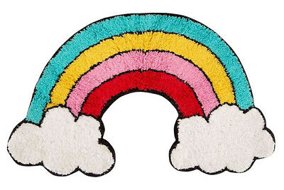 Rainbow and Clouds Rug - 47 x 70 cm