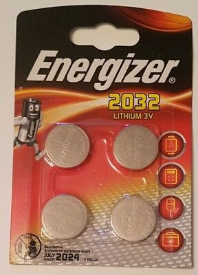Energizer CR2032 Lithium Coin Cell Battery - Pack of 4, Brand New, Sealed