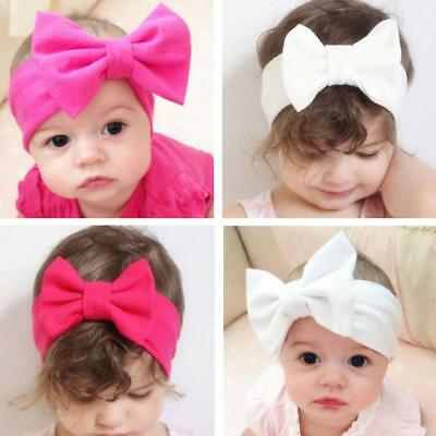 Toddler Girls Baby Cute Big Bow Hairband Headband Stretch Turban Knot Head Wrap