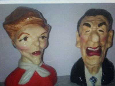 Salt & Pepper shakers,vintage Nancy & Ronald Reagon, only 100 made in the USA