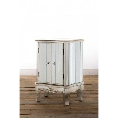 Antique Silver French Mirrored Glass Sideboard Cabinet Argente (H13014)