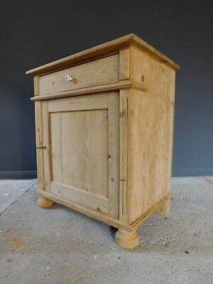 Genuine small stripped old antique pine dresser base cupboard cabinet sideboard